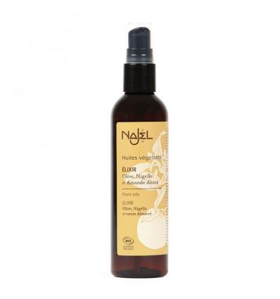 Elixir of the 3 BIO-oils. Olive, Nigella, and sweet Almond. Najel.