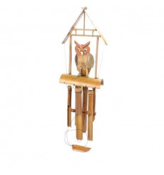 Carillon wind handcrafted bamboo decor Owl - Owl