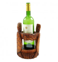 Door bottle display stand wine bottle turtle original wood.