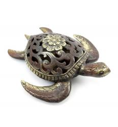 Statue tortue de mer en bronze, objet deco idée cadeau tortue.