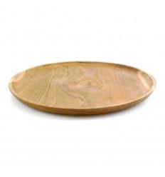 Plateau de service en bois de Teck ⌀30cm.