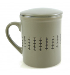 Mug infuser tea 340ml. Ethnic Style grey.