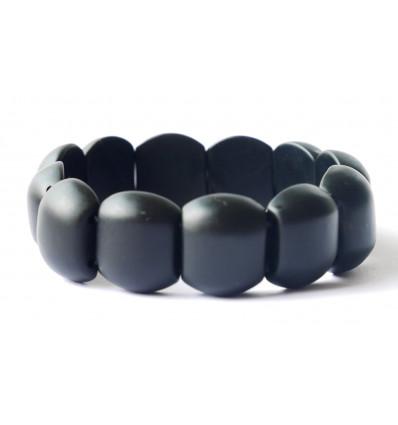 Bracelet Lithothérapie en Jade noir Anti douleur et anti stress