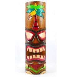 Totem Tiki bois vieilli ancien. Décoration maori. Protection foyer.