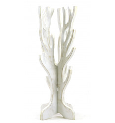 Jewelry tree for necklaces, bracelets, watches - solid wood white finish brushed