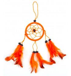 Achat attrape-rêve orange pas cher pour rétroviseur ou bijou de sac