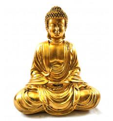 Statue reclining Buddha golden 22cm.