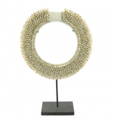 Collier Ethnique Africain en Coquillages Cauris ø30cm