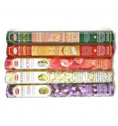 Assortiment Encens Précieux 5 parfums Hem Precious 100 bâtons