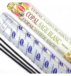 100 Bâtons d'Encens COPAL White Sage de Marque HEM