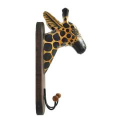 Peg/Trofeo Murale Testa di Giraffa in Legno Artigianato