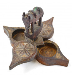 Box Spices Indian Wood Look Old Model Single