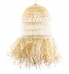 Large lamp shade in rattan and natural fibers ø50cm - homebuilt