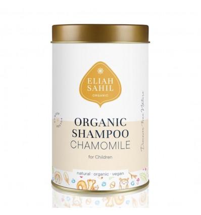 Shampoo in powder form for children. Chamomile organic vegan allergen-free.