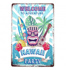 Post Metal Tiki Hawaiian Party Wall Decoration Exotic 30cm