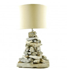 Living room lamp in driftwood Bleached Arisanat in a Limited Series