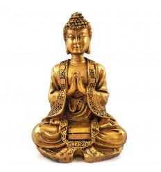 Statuetta di Buddha seduto aspetto pietra 12cm