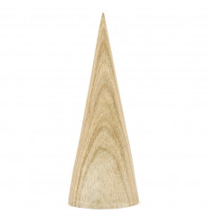 Display earrings cone shape solid wood gross