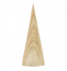 Display earrings cone shape solid wood gross