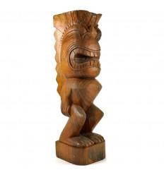 Totem Tiki Maori 50cm en Bois de Suar Sculpté Artisanalement