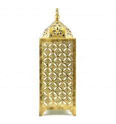 Lampe Orientale Dorée en Fer Forgé Artisanal 50cm Déco Marocaine