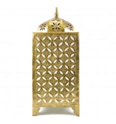 Lampe Orientale Dorée en Fer Forgé Artisanal 60cm Déco Marocaine