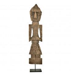 Statue Timor Antique Aged Wood 50cm Carved Handmade