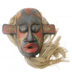Masque primitif rare style arts premiers. Déco moderne design chic.