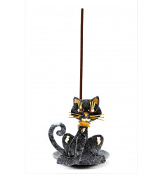 Burning incense wrought-iron - Cat