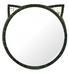 Grande specchio occhio naturale rattan 60cm