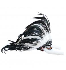 Coiffe de chef indien réaliste, achat déguisement amérindien plumes.