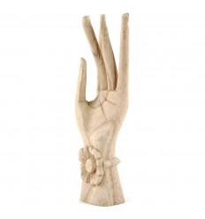 Main de Bouddha en bois, présentoir ou rangement pour bagues original