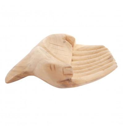 Intaglio a Mano in legno. Vuoto-tasca / schede di visualizzazione. Finitura grezza.