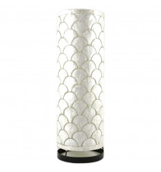Grande Lampe en Nacre Artisanale 50cm Motif Ecailles Très Chic
