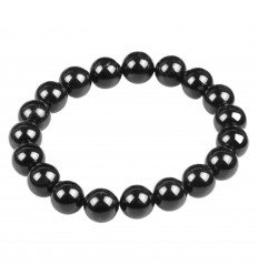 Bracelet Lithotherapie Onyx, Black Agate natural Balance of the energies, protects the pregnancy.