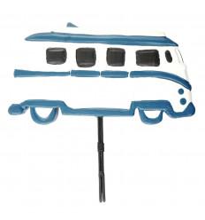 Calendrier perpétuel Combi/Van vintage en bois bleu