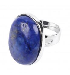 Bague réglable Pierre ovale Lapis Lazuli