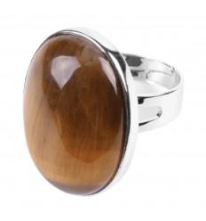 Ring adjustable 7 chakra 7 stones