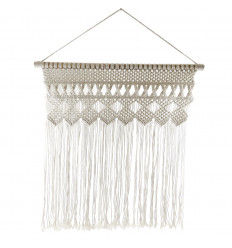 Boho wall decoration in macrame and wood 100 * 80cm