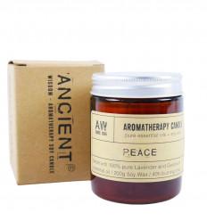 Bougie aromathérapie à la cire de soja senteur Géranium & Lavande 200g / 40h