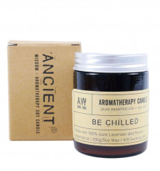 Soy wax aromatherapy candle Lavender & Fennel scent 200g / 40h gift box