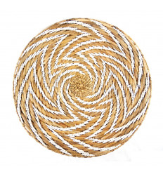 Large Ethnic Chic Wall Basket in Braided Abaca, Fair Trade