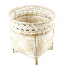 Bougeoir artisanal en coquillages