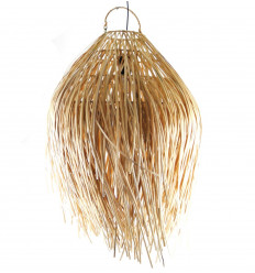 Bohème Chic pendant light in disheveled rattan. Bali Handicraft Creation
