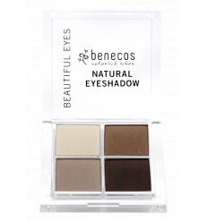 4-color organic eye shadow - Coffee and Cream - Benecos