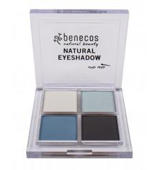 4-color organic eye shadow - True Blue - Benecos