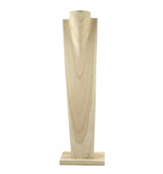 Display special long necklaces H50cm bust solid wood gross