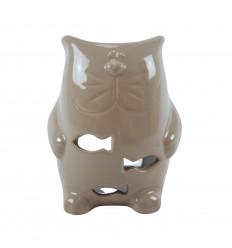 Handmade Ceramic Cat Perfume Burner - Beige
