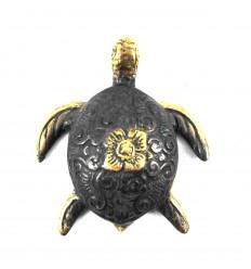 Statuetta decorativa Sea Turtle in bronzo. Creazione artigianale.