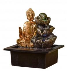 Indoor fountain Buddha Arya with glass ball and Led